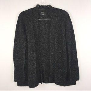 Zara Knit | Wool Open Front Cardigan M Gray